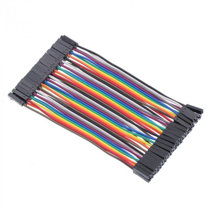 10 cabluri ( 10cm ) dupont MAMA-MAMA ( female-female ) Arduino cablu breadboard