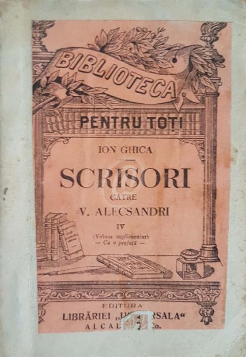 Scrisori catre Vasile Alecsandri, vol. IV