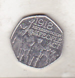 bnk mnd Marea Britanie Anglia 50 pence 2018 - comemorativa