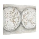 Tablou pictat manual - glob pamantesc - panza in, cu rama ascunsa - 90x120x3,8cm
