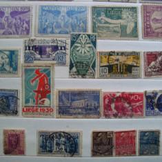Timbre expozitii Franta, Belgia, Stampilat