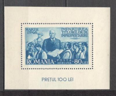 Romania.1946 Reforma agrara-Bl.  ZR.83 foto