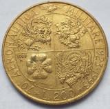 Monedă 200 lire 1993 Italia, Aeronautica Militare, km#155, Europa