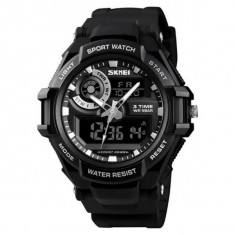 Ceas Barbatesc SKMEI CS903, curea silicon, digital watch, Functii- alarma, ora, data, cadran luminat, rezistent 3ATM