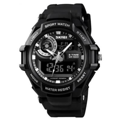 Ceas Barbatesc SKMEI CS903, curea silicon, digital watch, Functii- alarma, ora, data, cadran luminat, rezistent 3ATM foto