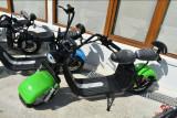 Scuter electric Harley cu baterie detaşabilă sub şa, verde, Harley Davidson