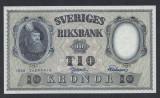 A5157 Sweden Suedia 10 kronor 1958 SEMNATURI DIFERITE UNC