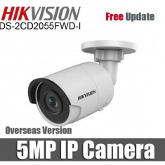 Camera de supraveghere IP Hikvision DS-2CD2055FWD-I , cu POE 5 MP IR 30 m lentila fixa 2.8mm cu SD card IP67