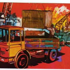 CP camion ROMAN 10215FS RECLAMA  FABRICA DE AUTOCAMIOANE AUTO TRACTOR BRASOV