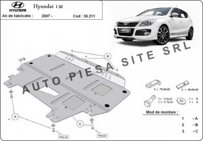 Scut metalic motor Hyundai i30 (FD) fabricat in perioada 2007 - 2011 APS-30,211 foto