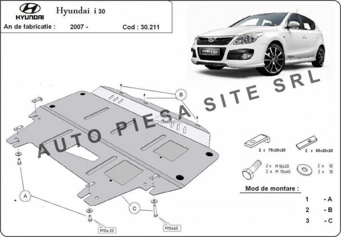 Scut metalic motor Hyundai i30 (FD) fabricat in perioada 2007 - 2011 APS-30,211