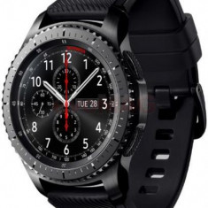 Smartwatch Samsung Gear S3 Frontier SM-R760, Procesor Dual-Core 1GHz, Super AMOLED 1.3inch, 768MB RAM, 4GB Flash, Bluetooth, Wi-Fi, Rezistent la apa s