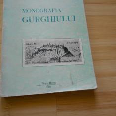 T. CHINDEA--CONTRIBUTII LA MONOGRAFIA JUDETULUI MURES - MONOGRAFIA GURGHIULUI