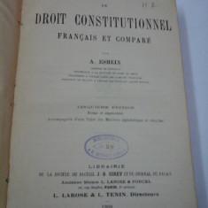 ELEMENTS DE DROIT CONSTITUONNEL FRANCAIS ET COMPARE - A. ESMEIN