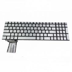 Tastatura Laptop Asus N751JK iluminata layout US Silver
