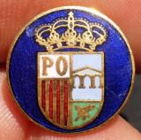 I.510 INSIGNA REGALISTA PIN EMBLEMA SCUT 15mm email