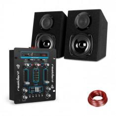 Resident DJ DJ-25, set de echipament, dj mixer + auna st-2000, difuzor, negru / albastru
