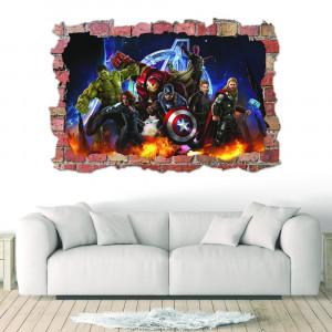 Sticker 3D perete, 60x90cm, Avengers1