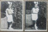 Fetita cu papusa// lot 2 fotografii perioada interbelica