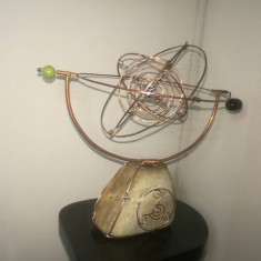 Astrolab(sculptura din cupru),handmade,unicat.