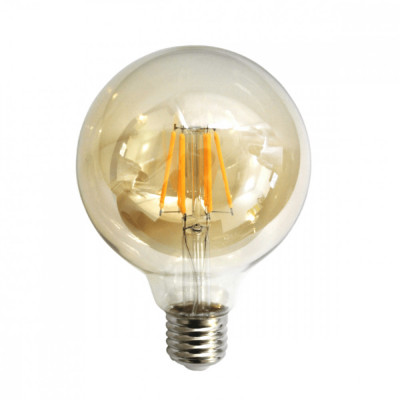 Bec LED Filament Amber E27 4W 480LM 2500K G95 foto