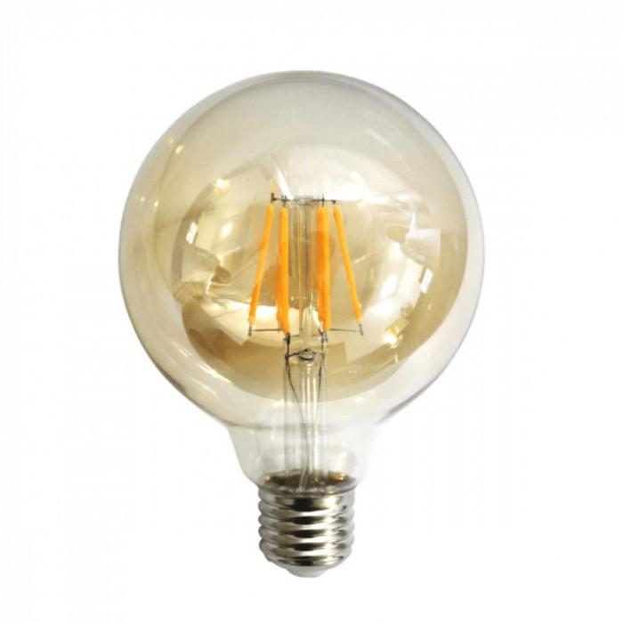 Bec LED Filament Amber E27 4W 480LM 2500K G95