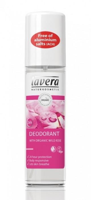 Deodorant spray natural 24h Trandafiri Salbatici, LAVERA, 75 ml