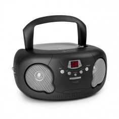 Auna Black Bonbon CD Boombox, CD player, bluetooth, FM, AUX-IN, display LED, negru