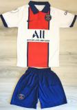 Compleu Echipament fotbal pentru copii PSG MBAPPE noul model 2021, YM, Tricou + Pantalon