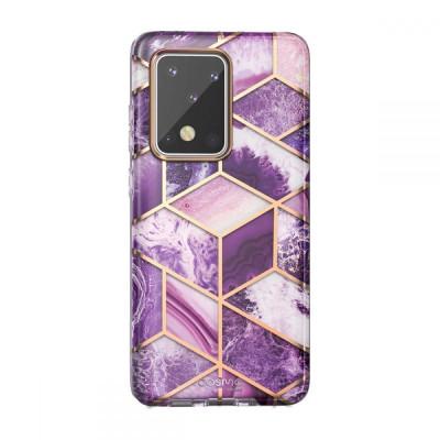 Carcasa stylish Supcase Cosmo Samsung Galaxy S20 Ultra Purple foto