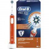 Periuta electrica Oral-B PRO 400 D16.513, 1 capat CrossAction, 1 program (Portocaliu)