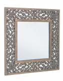 Oglinda decorativa perete cu rama negru patinat Dalila 60 cm x 60 cm Elegant DecoLux
