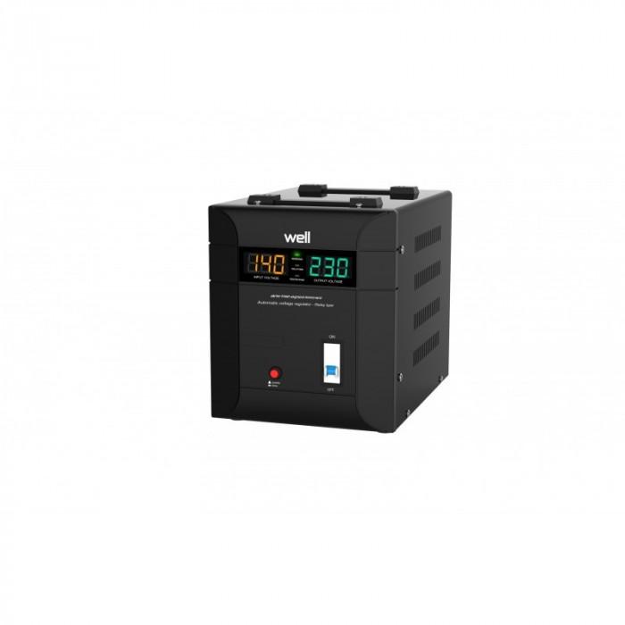 Stabilizator automat de tensiune Well Agile, 3000VA/2100W