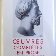 OEUVRES COMPLETES EN PROSE par A. DE MUSSET , texte etabli par MAURICE ALLEM , BIBLIOTHEQUE DE LA PLEIADE , EDITIE DE LUX , 1951