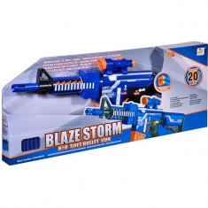 Arma de jucarie, model mitraliera tip blazer cu gloante moi, 73 cm