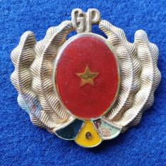 Insigna GP - Garzile Patriotice - STAT MAJOR INTREPRINDERE - Rara, anul 1970