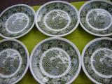 Portelan englezesc ADAMS, superb set de 6 farfurii