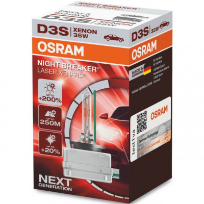 Bec Xenon D3S Osram 66340XNL NIGHT BREAKER LASER Xenarc NEXT Generation +200% foto