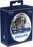 Becuri auto cu halogen pentru far Philips Racing Vision +150% vizibilitate, H4 12V 60/55W P43t-38 Kft Auto