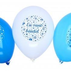 Baloane botez Eu sunt baietel Alb Bleu Albastru 30cm set 20 buc