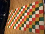 Tablou handmade din lemn de brad pictat manual