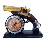Cumpara ieftin Ceas de masa, in forma de pistol, 23 cm, 1560G-1