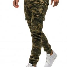 Pantaloni joggers pentru bărbat camuflaj-maro Bolf 4949