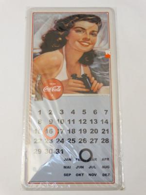 Calendar Coca Cola metal 20 x 40 cm reclama Coca Cola - nou - model 1 foto