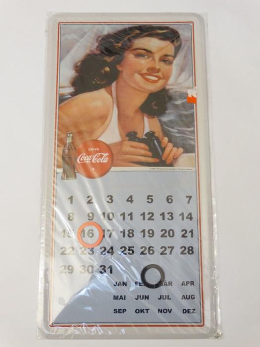 Calendar Coca Cola metal 20 x 40 cm reclama Coca Cola - nou - model 1