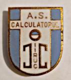 INSIGNA FOTBAL AS IIRUC CALCULATORUL BUCURESTI SCUT