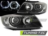 Faruri BMW Seria 3 E90 03.05-11 Angel Eyes LED Negru