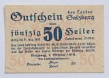 50 heller/ heleri, 1919 Salzburg Austria (notgeld) XF+