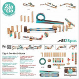 Cumpara ieftin Zig & Go Djeco, set de constructie trasee, 28 piese