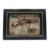 Panoplie tip tablou, Spanish Inquisition, lemn, 36x26 cm, bronz